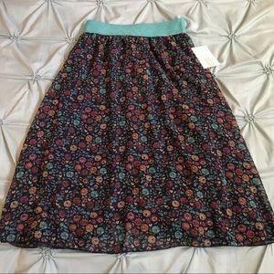 EUC XS Lularoe Lola floral skirt